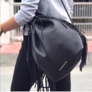 Victoria's Secret black large backpack